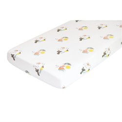 Nursery Works Menagerie Forest Animals Organic Cotton Percale Sheet