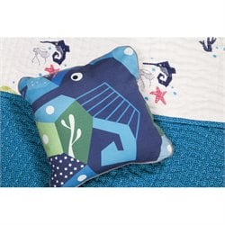 Nursery Works Oceanography Seahorse Cubist Print Toddler Pillow