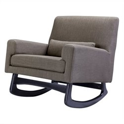 Nursery Works Sleepytime Rocker in Hazelnut Weave Fabric with Dark Legs