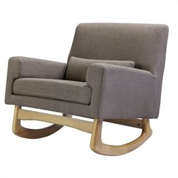 Nursery Works Sleepytime Rocker in Hazelnut Weave with Light Legs