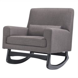 Nursery Works Sleepytime Rocker in Pebble Weave Fabric with Dark Legs