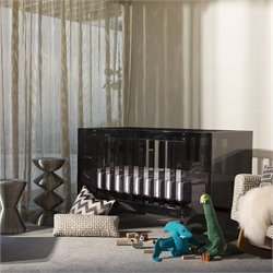 Nursery Works Limited Edition Vetro Crib in Shadow Finish