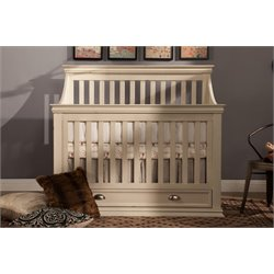 Franklin & Ben Mason 4 in 1 Convertible Crib in Distressed White