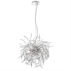 Dainolite 6 Light Crystal Chandelier in Polished Chrome