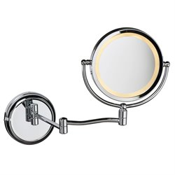 Dainolite Swing Arm Lighted Magnifier Mirror in Polished Chrome