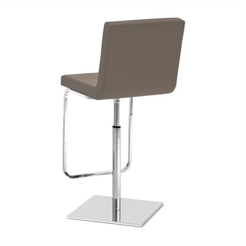 Adjustable Swivel Bar Stool in Taupe