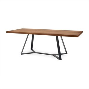 Domitalia Archie-L-200 Rectangular Dining Table in Walnut