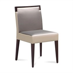 Domitalia Ariel Dining Chair in Wenge and Taffy Grey