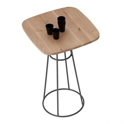 Domitalia Barrique Pub Table in Anthracite and Wild Oak