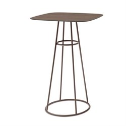 Domitalia Barrique Pub Table in Bronze and Walnut