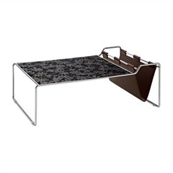 Domitalia Bijou Coffee Table in Black Glass Pattern