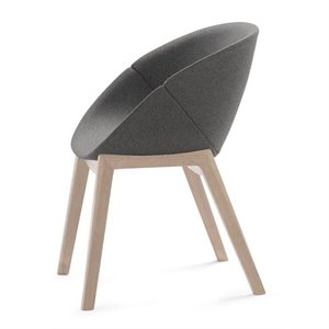 Domitalia Coquille-L Egg Chair in Ashe White