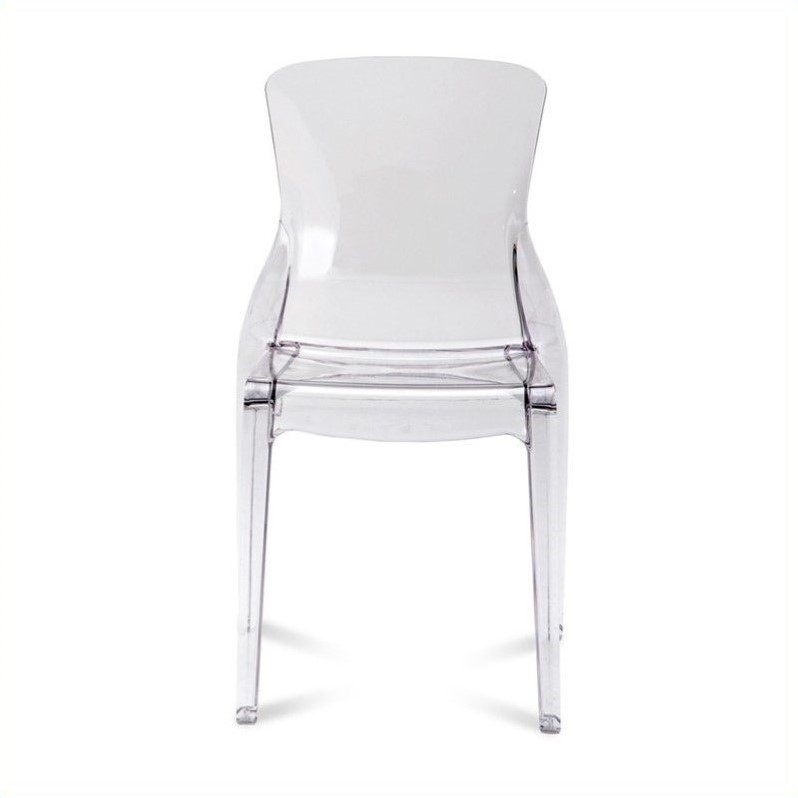 Domitalia Crystal Dining Chair in Transparent