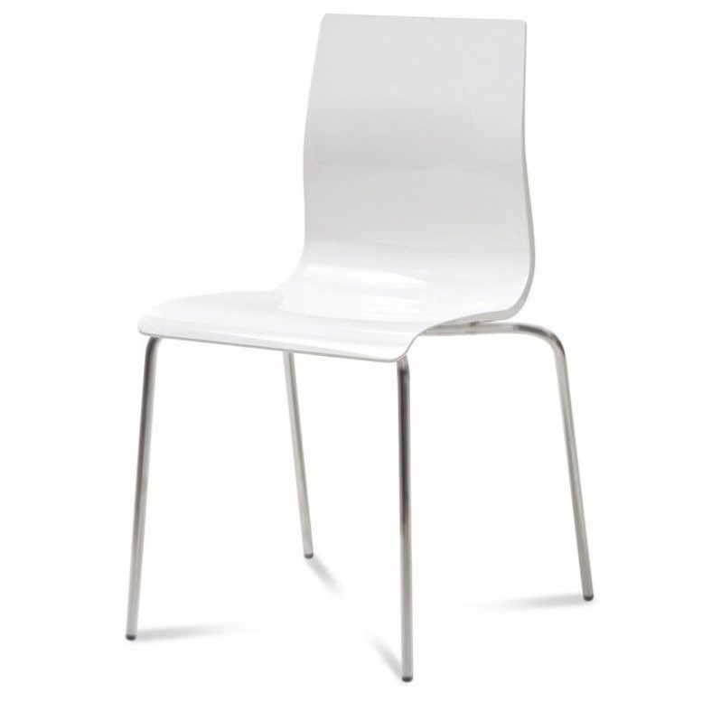 Domitalia Gel-B Stackable Dining Chair in White