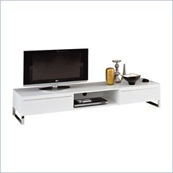 Domitalia Life-Cg180 Long Entertainment Center in White