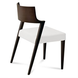 Domitalia Lirica Dining Chair in White and Wenge Brown