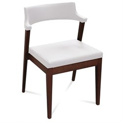 Domitalia Lyra  Dining Chair in White and Wenge Brown
