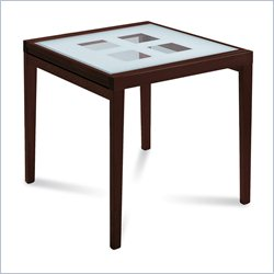 Domitalia Poker-B90 Dinning Table in Wenge and White