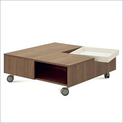 Domitalia Roy Square Coffee Table in Walnut