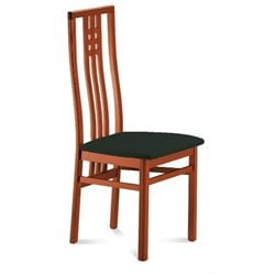 Domitalia Scala Dining Chair in Black and Cherry Brown