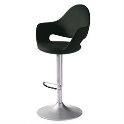Domitalia Soft-Sg Adjustable Swivel Bar Stool in Black