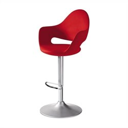 Domitalia Soft-Sg Adjustable Swivel Bar Stool in Red
