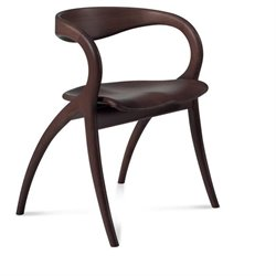 Domitalia Star Dining Chair in Wenge Brown