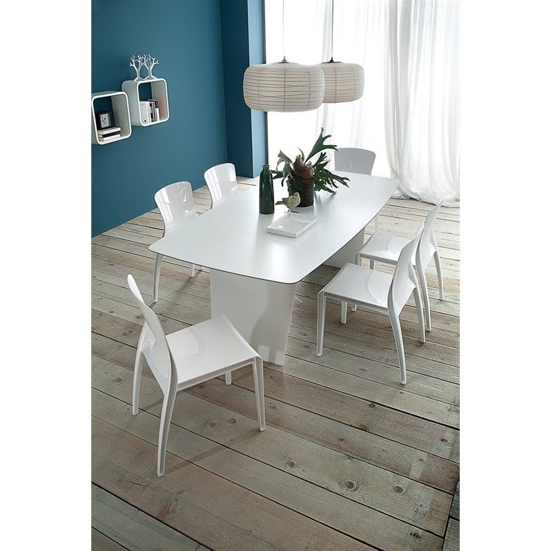 Domitalia Stone-T 200 Rectangular Dining Table in White