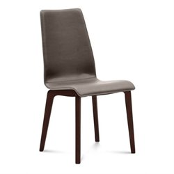 Domitalia Jill Dining Chair in Skill Taupe and Chocolate