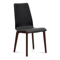 Domitalia Jill Dining Chair in Skill Black and Chocolate