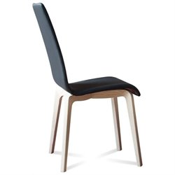Domitalia Jill Dining Chair in Skill Black and White Ash