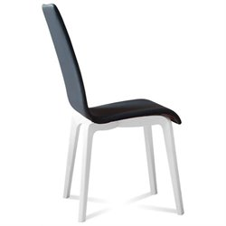Domitalia Jill Dining Chair in Skill Black and Mat White