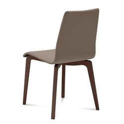 Domitalia Jude Dining Chair in Skill Taupe and Chocolate