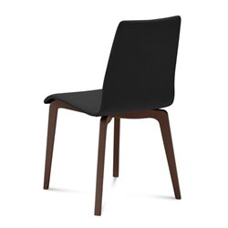 Domitalia Jude Dining Chair in Skill Black and Chocolate