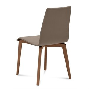 Domitalia Jude Dining Chair in Skill Taupe and Walnut