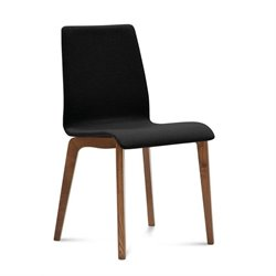 Domitalia Jude Dining Chair in Skill Black and Walnut