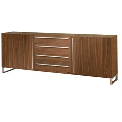 Domitalia Life Sideboard in Chrome and Walnut