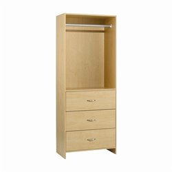 Homestar Drawer Closet Organizer in Birch Laminate