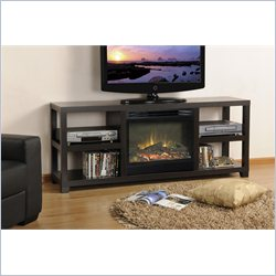 Homestar Lisa Media Electric Fireplace in Deep Espresso Laminate