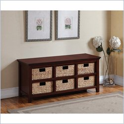Homestar Inspirations by Broyhill 6 Basket Storage Console in Cherry
