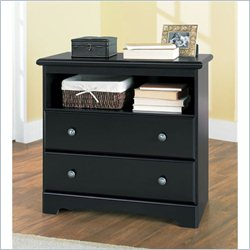 Homestar Lane Furniture 2 Drawer Hall Chest in Black