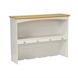 Homestar Lane Furniture Kitchen Hutch with 4 Knobs in White