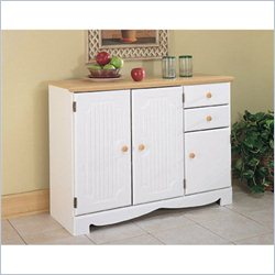 Homestar Lane Furniture 2-Drawer Kitchen Buffet in White