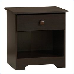 Homestar Lane Furniture 1 Drawer Nightstand in Walnut