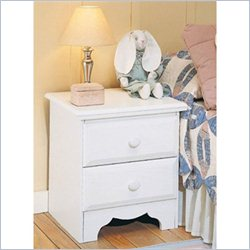 Homestar Lane Furniture 2 Drawer Nightstand in White