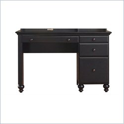 Homestar Renovations by Thomsville 4 Drawer Single Pedestal Desk in Vintage Ebony