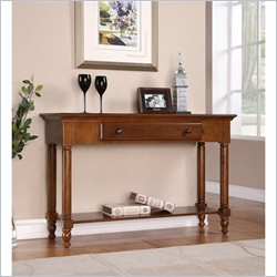 Homestar Renovations by Thomsville 1 Drawer Console Table in Chestnut