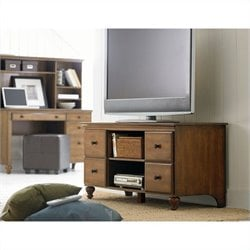 Homestar Renovations by Thomsville 4 Shelf TV Console in Chestnut