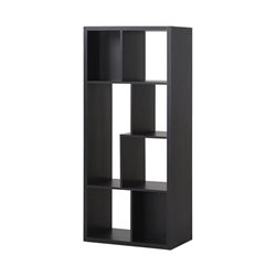 Homestar 7 Compartment Shelving Bookcase in Espresso