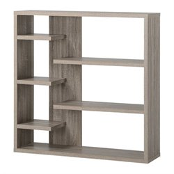 Homestar 6 Shelf Storage Bookcase in Reclaimed Wood